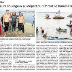Raid de L'île Dûmet à Piriac à la Nage