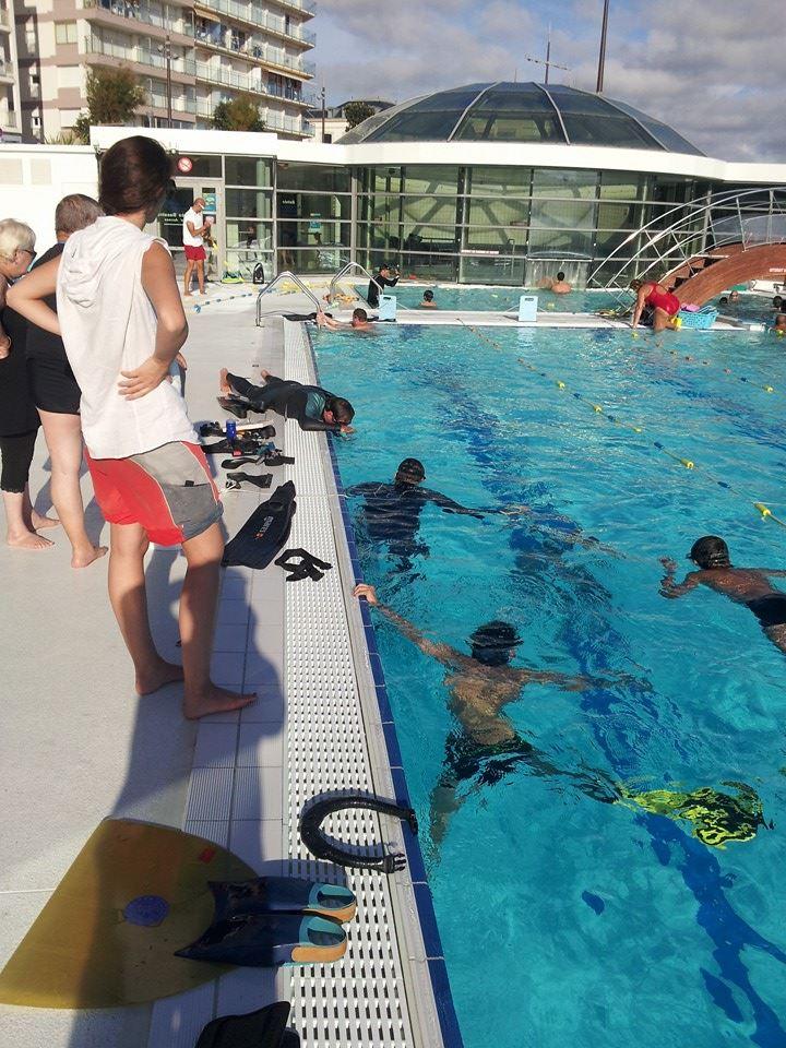 Initiation à l'apnée et nage avec palmes