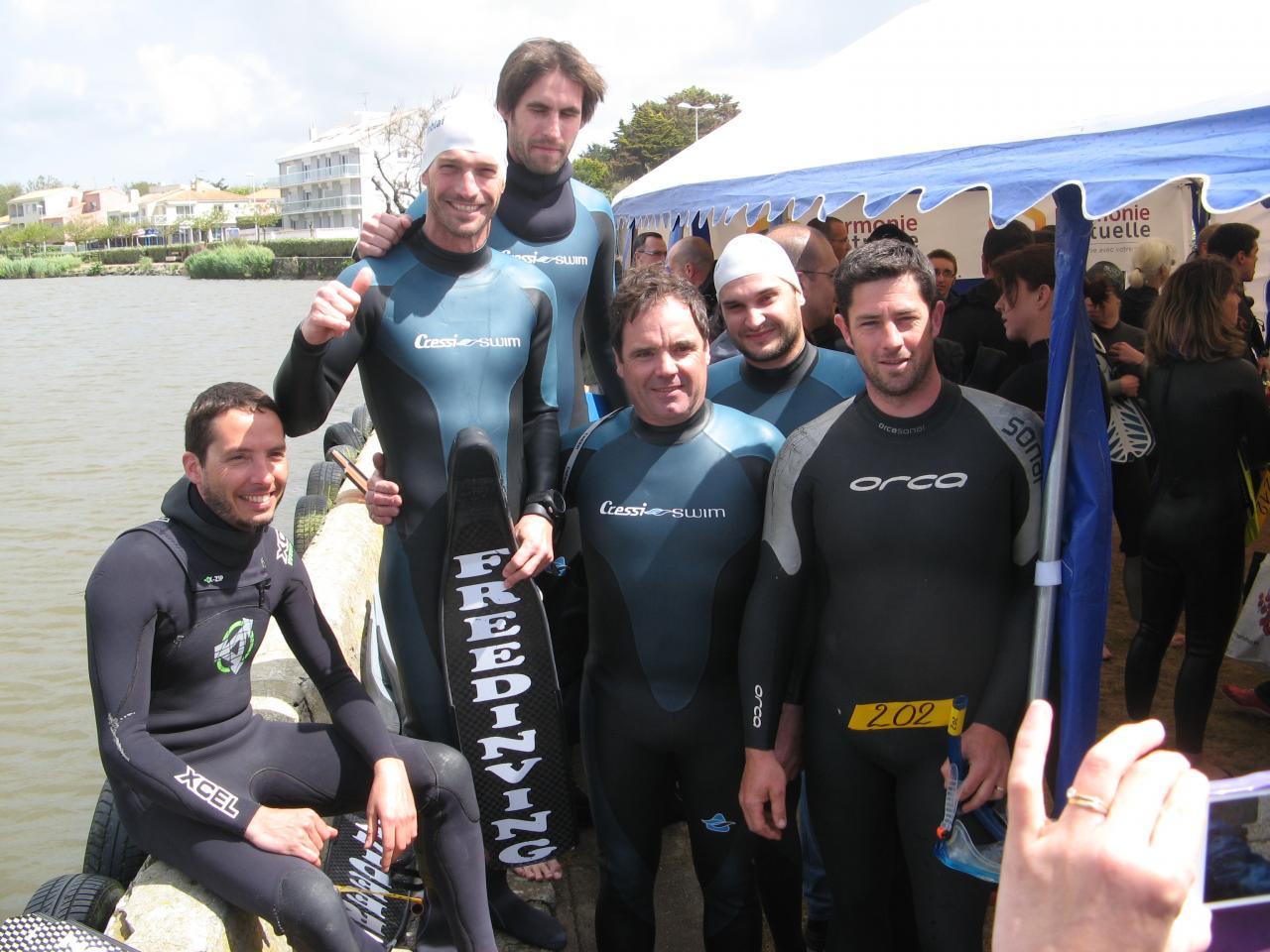 Le team Free Diving